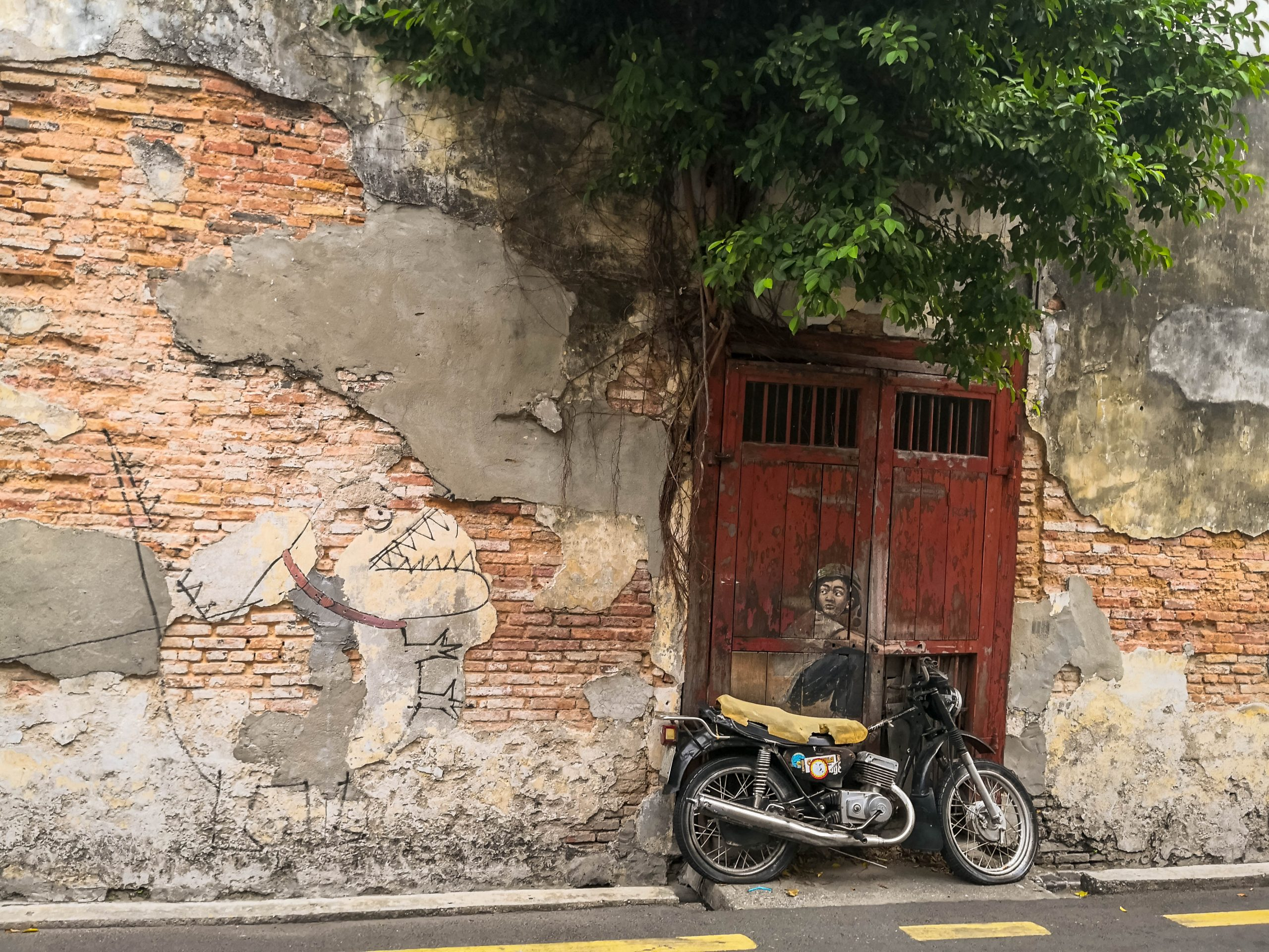 Georgetown, Penang, Malaysia – Street Art on wall by Lithuanian